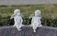 Friedhof Oberi - zwei Engel