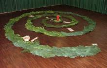 Versöhnungsweg: Spirale an der ersten Station