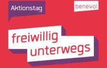 """Aktionstag """"freiwillig unterwegs"""" von benevol am 2. November 2019"""